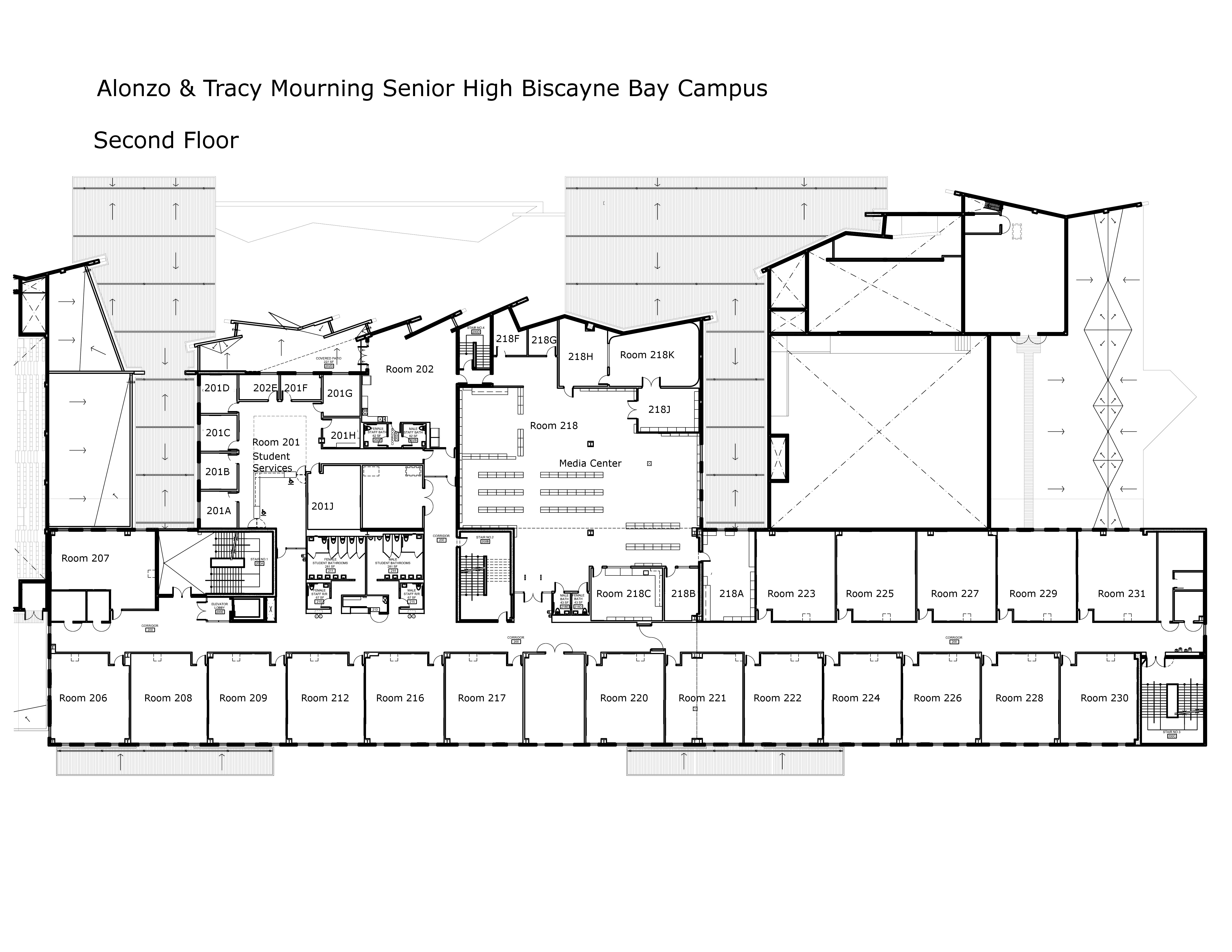 Biscayne Bay Campus Map.Alonzo Tracy Mourning Sr H Biscayne Bay Campus Floor Maps